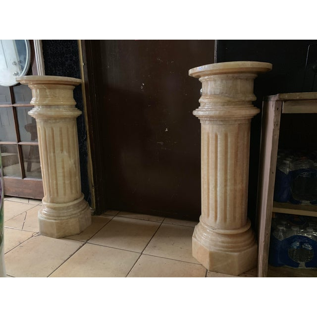1920s Tuscany Pink Marble Pedestals - a Pair For Sale - Image 13 of 13