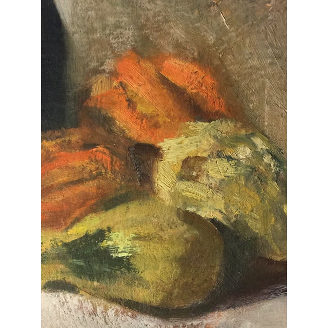 Vintage Still Life Oil on Board Painting Signed by Artist For Sale In Los Angeles - Image 6 of 11