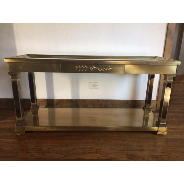 Mastercraft Brass Console Table - Image 2 of 8