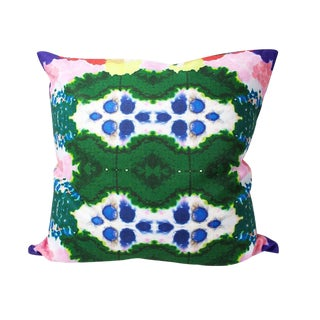 Colorful World Reversible Pillow For Sale