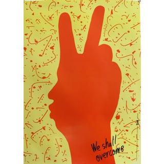 1989 Original Poster for Artis 89's Images Internationales Pour Les Droits De l'Homme Et Du Citoyen - We Shall Overcome For Sale