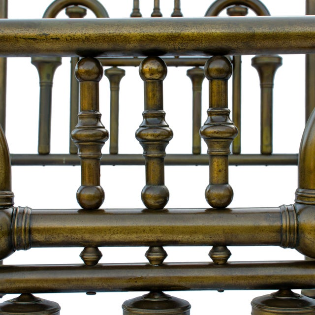 19th Century Brass Tuba Bed Frame For Sale In Savannah - Image 6 of 11