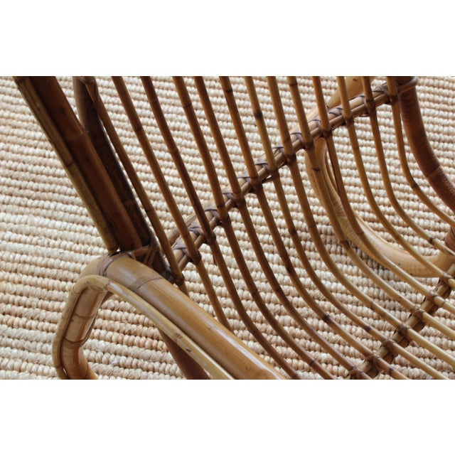 Bamboo Pair of Bamboo Armchairs in the Style of Franco Albini, 1960s, Italy For Sale - Image 7 of 11