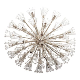 Custom Ceiling Mount Austrian Snowflake Fixture For Sale