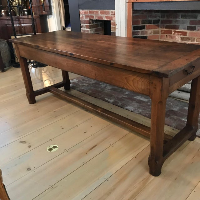 French 19th Century Walnut Farmhouse Table From Provence For Sale - Image 4 of 13