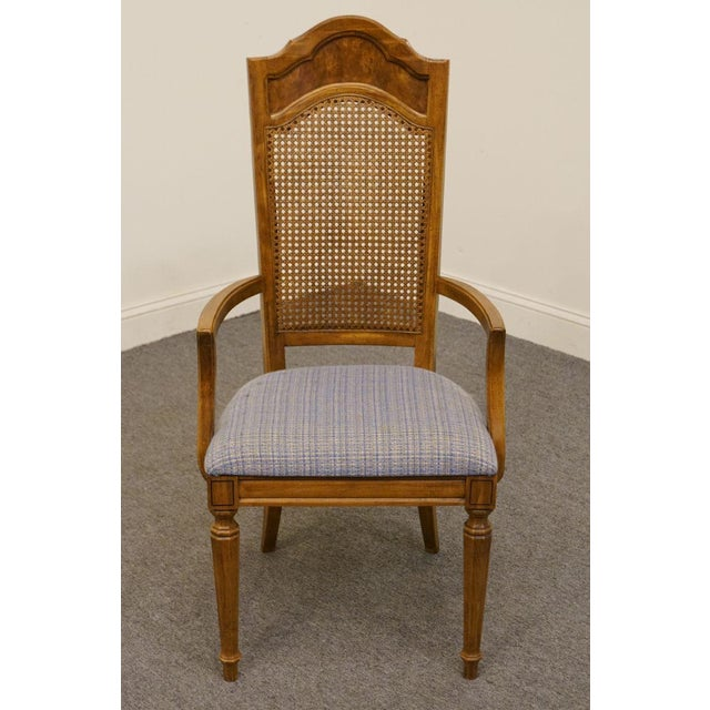 Traditional Late 20th Century Vintage Thomasville Furniture Romano Collection Cane Back Dining Chair For Sale - Image 3 of 10