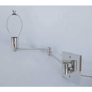 Vintage C.1970's Georg Hanson for Hanson Lighting Co. Chrome-Plated Swing-Arm Wall Sconce- Single Preview