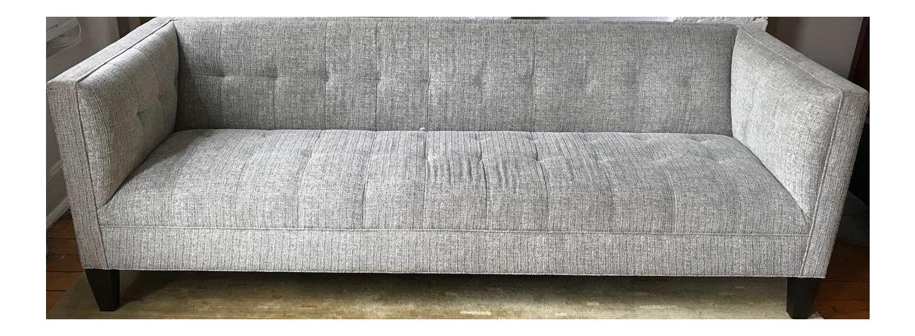 mitchell gold bob williams kennedy gray sofa chairish rh chairish com mitchell gold kennedy sofa boden taupe Mitchell Gold Stephon Sofa