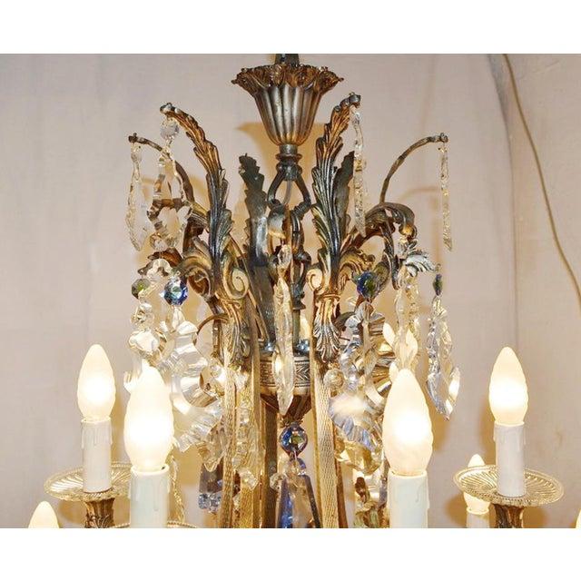 Italian Rococo Chandelier For Sale - Image 3 of 12