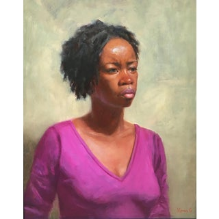 """Deep in Thoughts"" Portraiture Oil Painting For Sale"