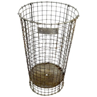 Wire Trash Can by Norwich Wire Works For Sale