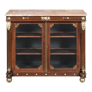 Regency Rosewood Marble Top Cabinet circa 1815 For Sale