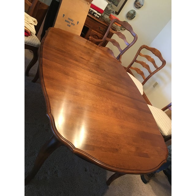 Brown Ethan Allen French Country Dining Set - 7 Pieces For Sale - Image 8 of 12