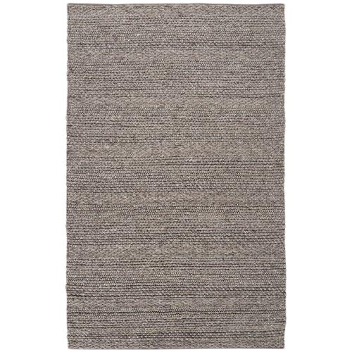 Hand Woven Brown Wool Rug - 9' x 13' - Image 1 of 6