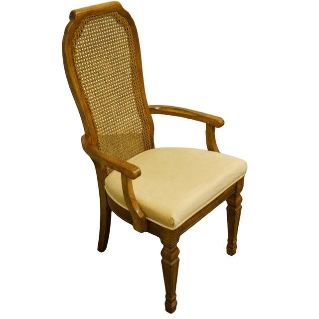 "Bernhardt Furniture Italian Provincial Cane Back Dining Arm Chair 251-521/522 43"" High 21.75"" Wide 22.5"" Deep Seat: 19.5""..."