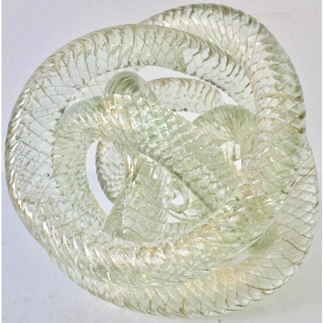 """Large Murano Glass 8""""Twisted Knot Sculpture For Sale - Image 13 of 13"""