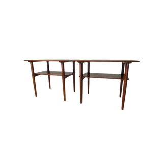 Povl Dinesen Pd 15a Teak End Tables Made in Denmark