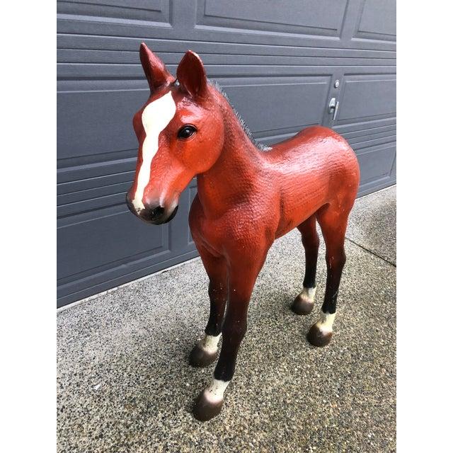 Farmhouse Vintage Resin Colt Horse Statue For Sale - Image 3 of 10