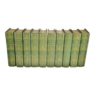 Vintage 1921 Collier's New Encyclopedias - 10 Volume Set For Sale
