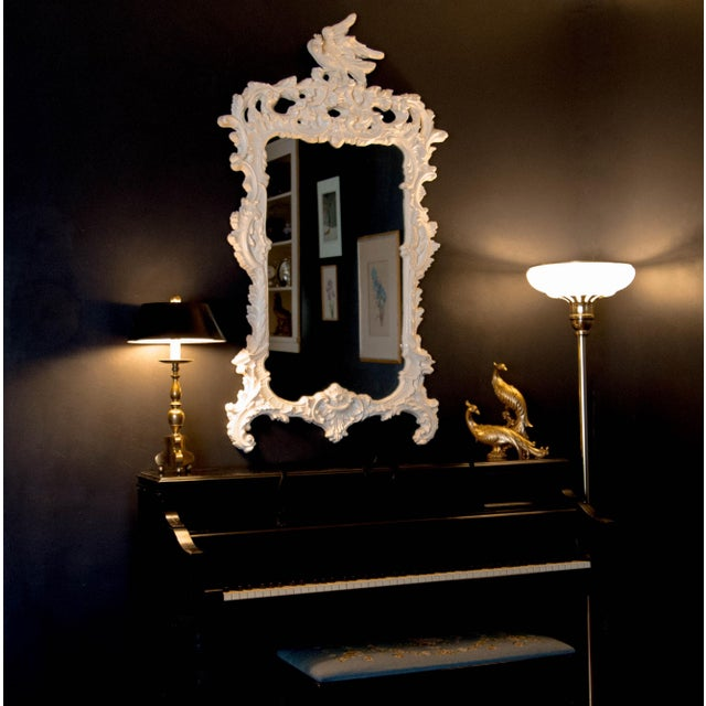 Chinese Chippendale Eagle Crest Mirror For Sale - Image 9 of 11