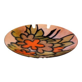 Mid-Century Modern Metal Enameled Ashtray For Sale