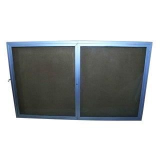 Brushed Aluminum Menu Directory / Billboard Display For Sale