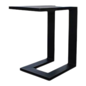 Vesta Ludo Outdoor Side Table in Black For Sale