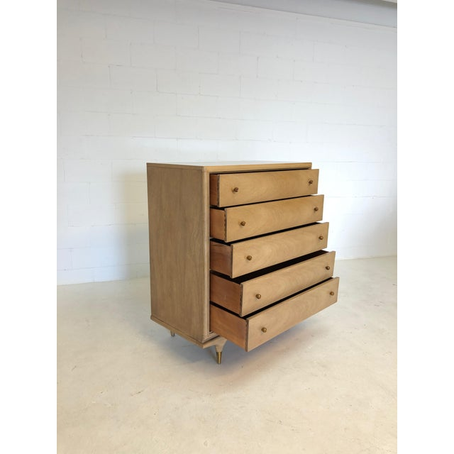 """1960s Mid Century Modern Kent Coffey """"The Continental"""" Highboy Dresser For Sale - Image 5 of 9"""