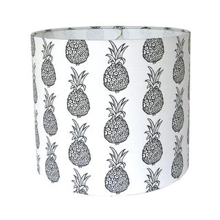 Black & White Pineapple Drum lampshade Preview