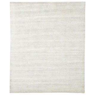 Transitional Light Gray Area Rug - 8′1″ × 10′6″ For Sale