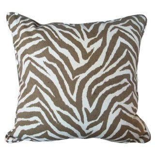Sunbrella Animal Print Zebra Pillow For Sale