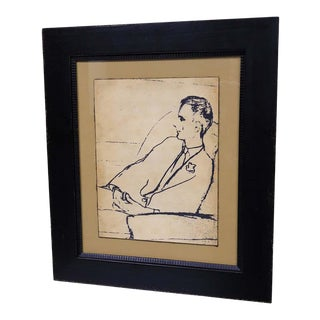 """""""A Serious Man"""", Framed Giclee Reproduction For Sale"""
