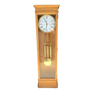 Howard Miller Oak Grandfather Clock For Sale