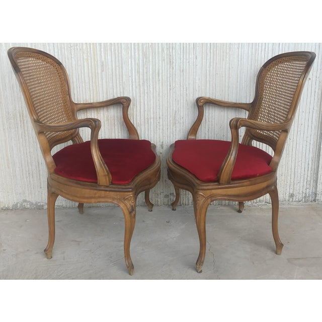 18th Louis XV Cane Back and Seat Fauteuil Armchair. For Sale - Image 10 of 13