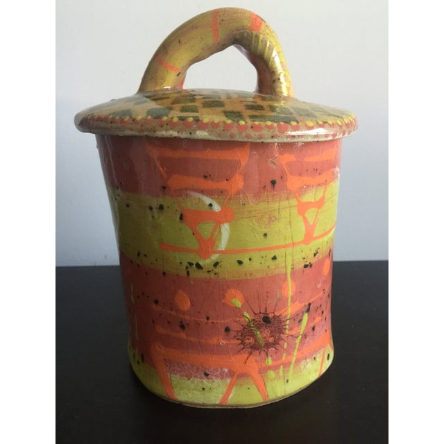 1970s Abstract Colorful Glazed Pottery For Sale - Image 4 of 12