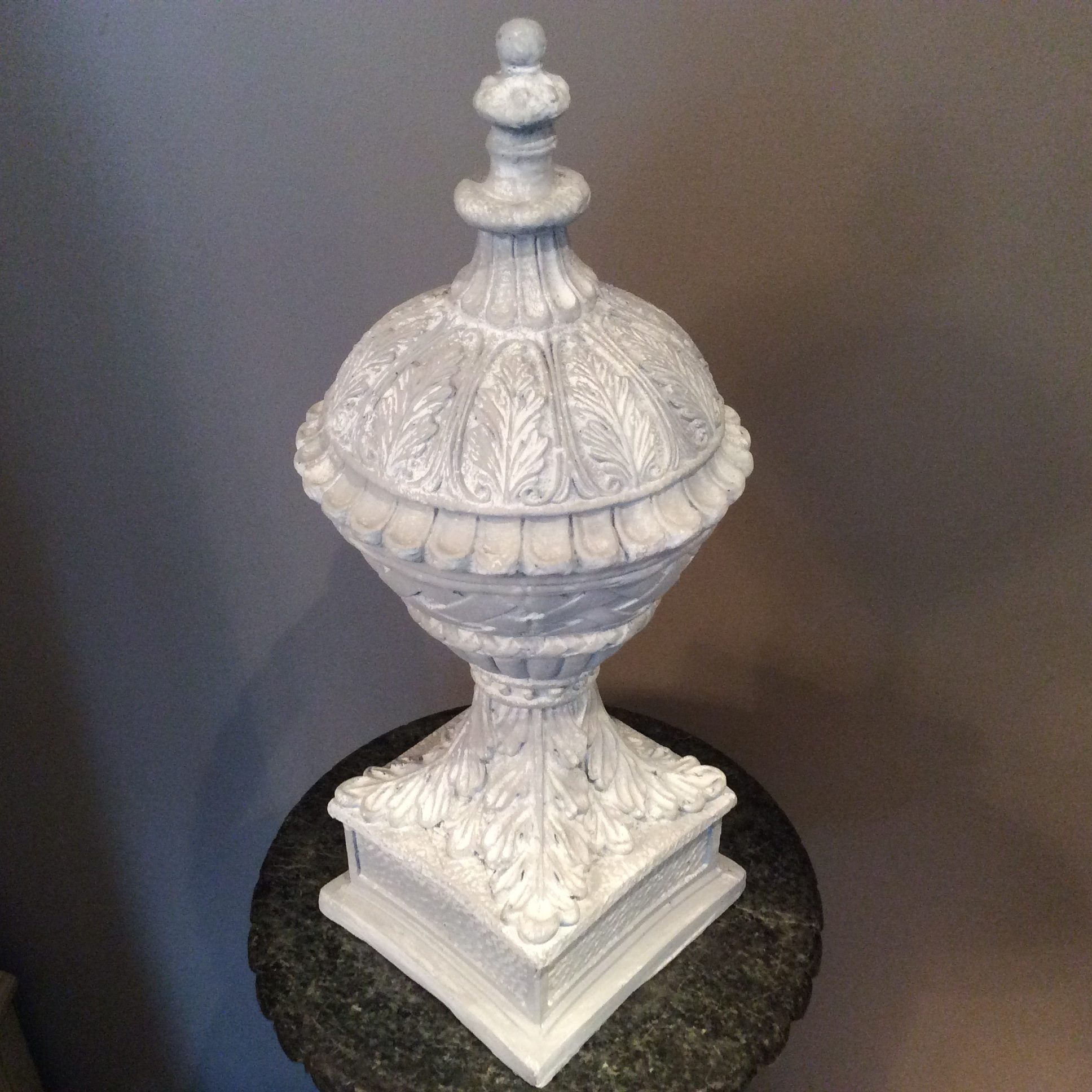 Neoclassical Plaster Garden Finial For Sale   Image 7 Of 7