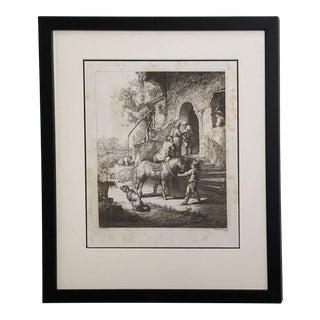 Late 18th Century Rembrandt Etching #1, by Francesco Novelli For Sale