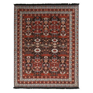 Burano Blue and Burgundy Wool Rug For Sale
