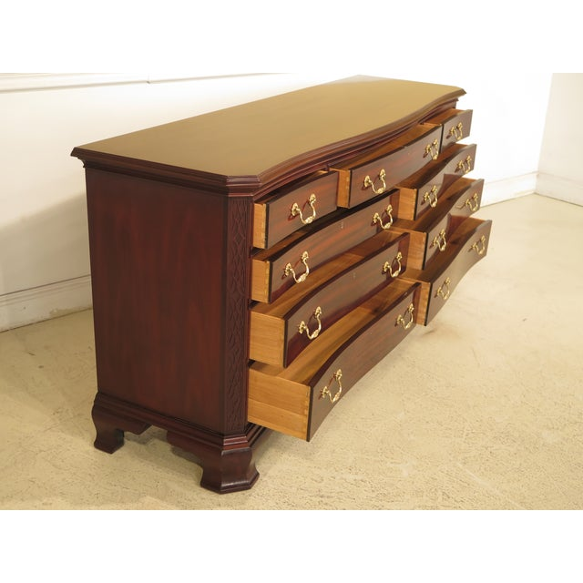 Councill Craftsmen Mahogany Triple Dresser For Sale In Philadelphia - Image 6 of 11
