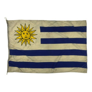 Vintage Nautical Sun Flag of Uruguay For Sale