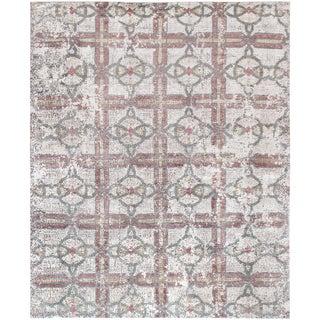 "Pasargad Modern Gemstone Silk & Wool Rug - 8' 0"" X 9'10"""