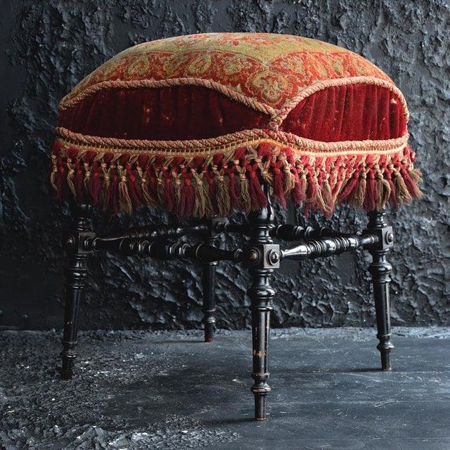 19th Century English Ebonised Carpet Stool For Sale - Image 13 of 13