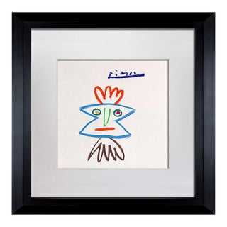 """1960s Pablo Picasso Signed """"...Por Helena"""" Limited Ed. Lithograph with Frame For Sale"""