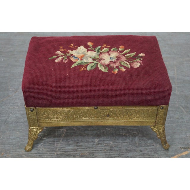 Victorian Aesthetic Brass Footstools, Attributed to Charles Parker- A Pair For Sale - Image 5 of 10