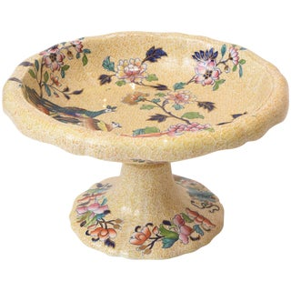 19th Century English Centerpiece With All-Over Design and Peacock Parsley Spode For Sale