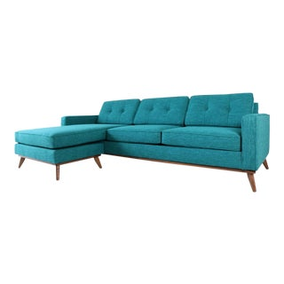 Mid Century Modern Sofa Chaise For Sale