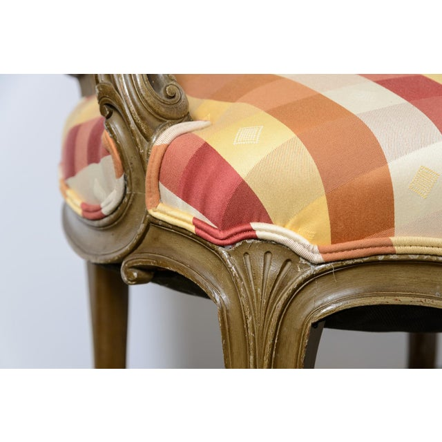 Red Late 19th Century Painted Fauteuils - a Pair For Sale - Image 8 of 11