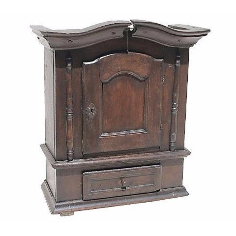 1690 Antique English Jacobean Wall Cupboard - Image 1 of 4