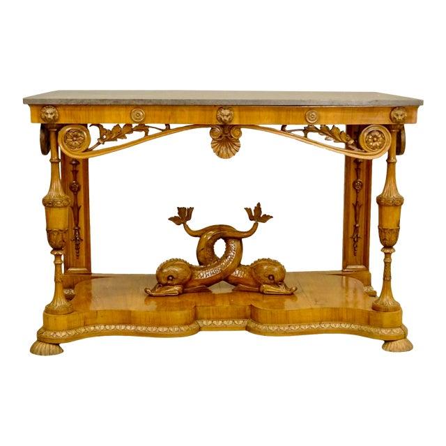 19th Century Biedermeier Fruitwood Console For Sale