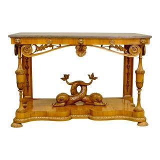 19th Century Whimsical Biedermeier Fruitwood Console
